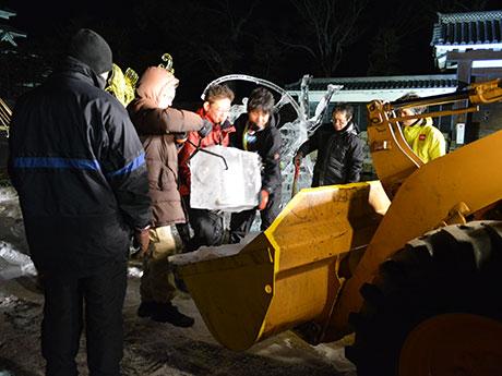 国宝松本城氷彫フェスティバル2017